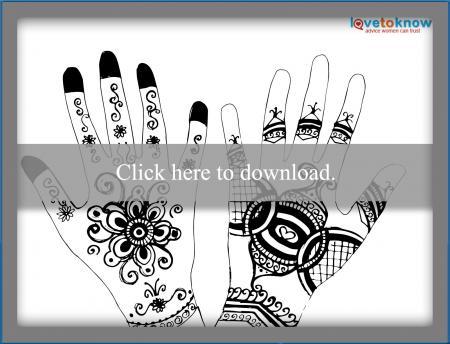 Henna hands design