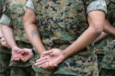 US Marine with Tattoo