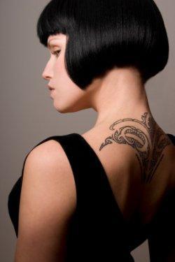 Polynesian back tat