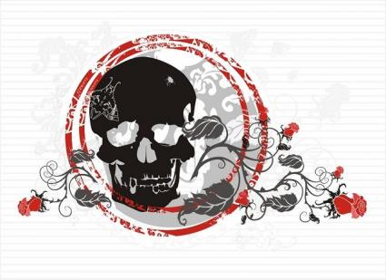 tattoos of skulls and flowers. Pictures of Skull Tattoos With