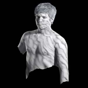Male Body Painting as Marble