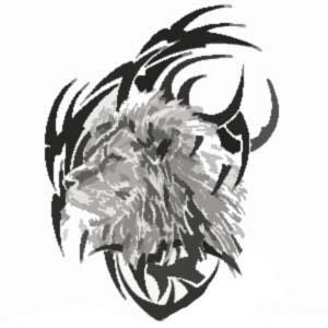tribal lion tattoo. Black Bedroom Furniture Sets. Home Design Ideas