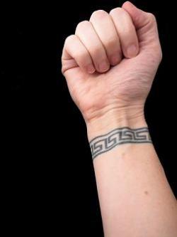 greek key tattoo. Black Bedroom Furniture Sets. Home Design Ideas