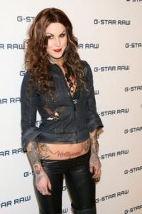 Hollywood tattoo on abdomen