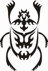 Tribal scarab design