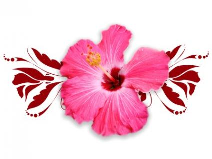 Hibiscus Tribal Design