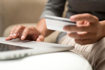 Using credit card online