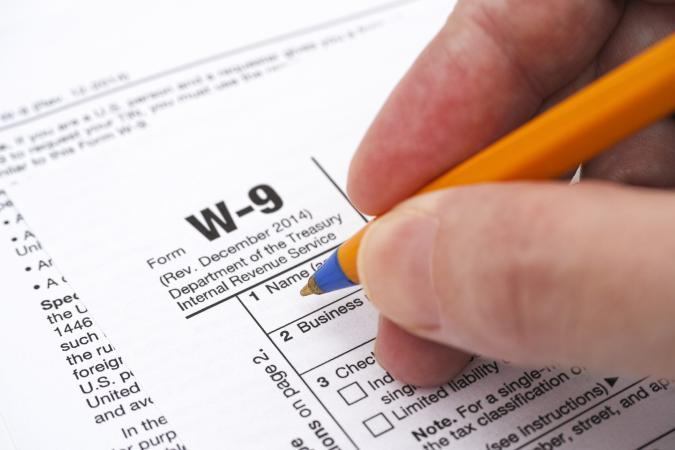 Filling out form W-9