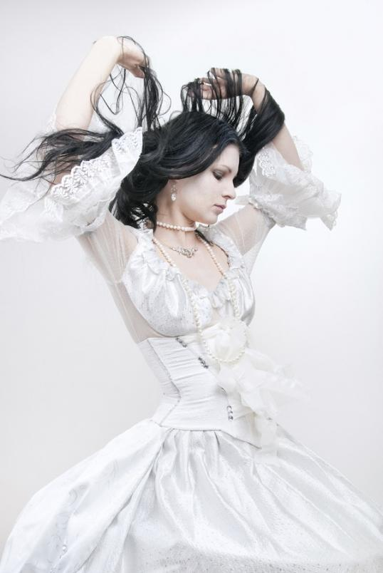 White Gothic Wedding Dresses 41