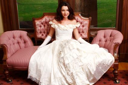 white victorian dress