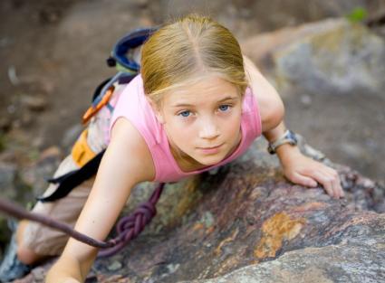 teen climbing