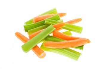 Carrots and celery sticks