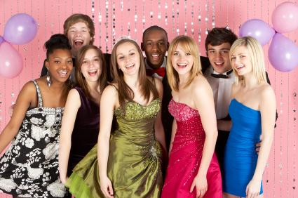 Group at prom