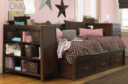 Queen Beds For Teenage Girls Organizing a Te...