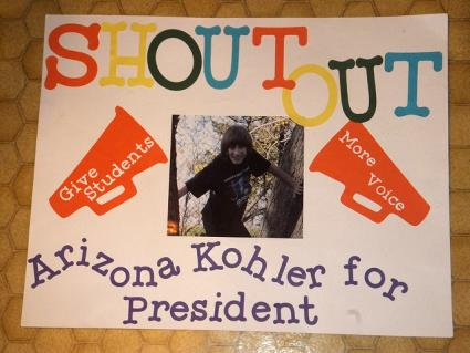Arizona for President poster, running for president