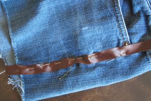 ribbon on shorts