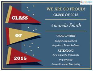 Printable Graduation Announcement Templates 2 v3