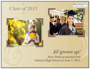 now and then graduation announcement - Free Printable Graduation Invitation Templates
