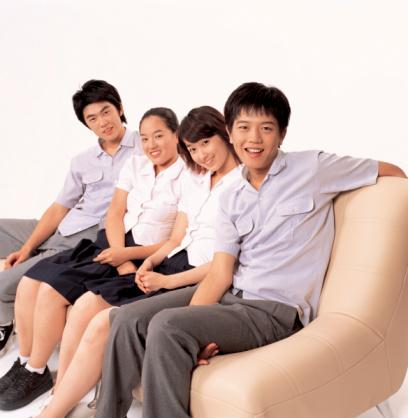 Teens on couch