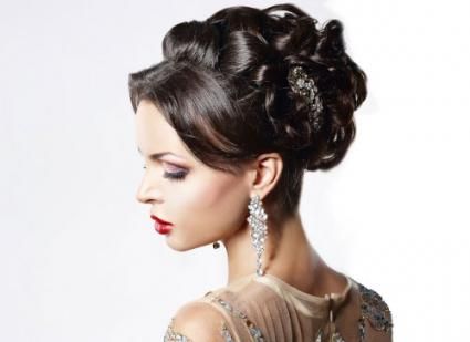 Jewelry and Festive Hairstyle