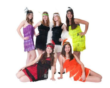 Teens Wearing Flapper Costumes