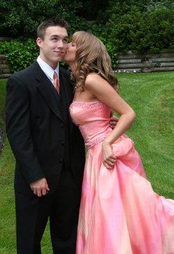 Young man and his prom date