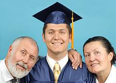 grad and family
