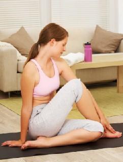 girl on exercise mat