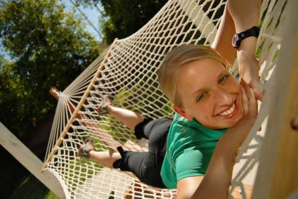 girl hammock
