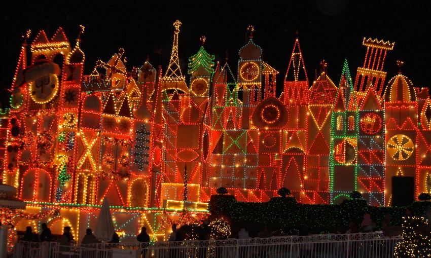its a small world at night - Disneyland Christmas Decorations