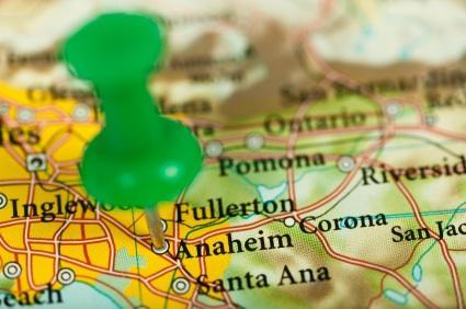 map of southern california disneyland orange county