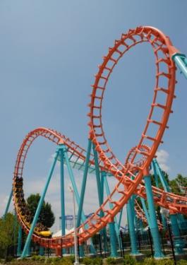 Corkscrew style coaster