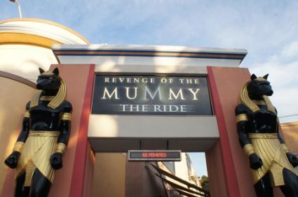 Mummy ride at Universal Studios