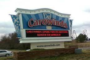 Carowinds signage
