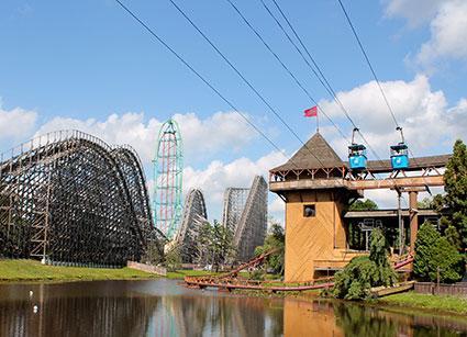 Vista view of Six Flags Great Adventure & Safari