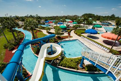 Four-storey water slides