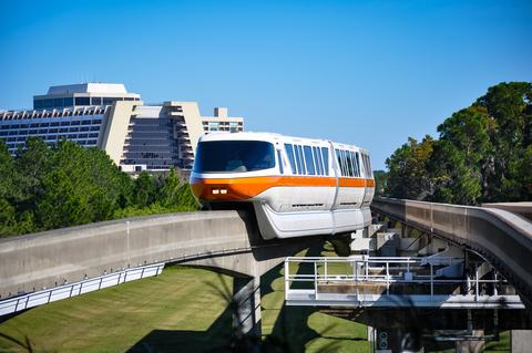 The monorail and the contemporary resort