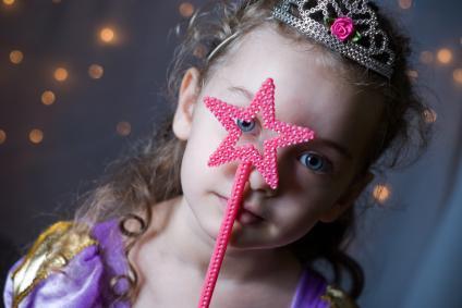 Girl playing princess