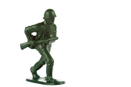 Due to small parts, most plastic soldiers aren't recommended for children under the age of 3.