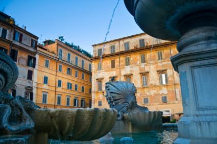Fountain in Trastevere