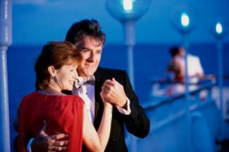 Couple dancing on cruise ship