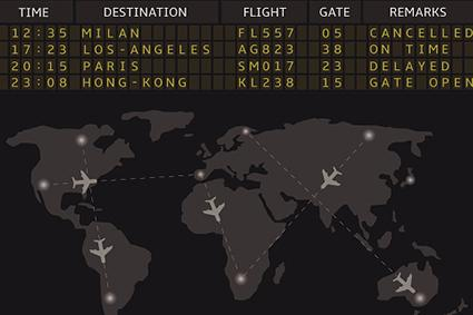 Flight status board