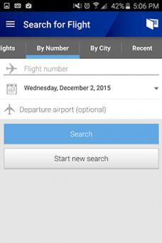 United Airlines app
