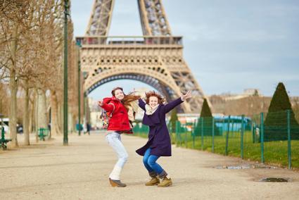 Paris near the Eiffel tower