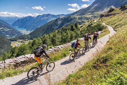 Val Poschiavo downhill bike tour, Switzerland