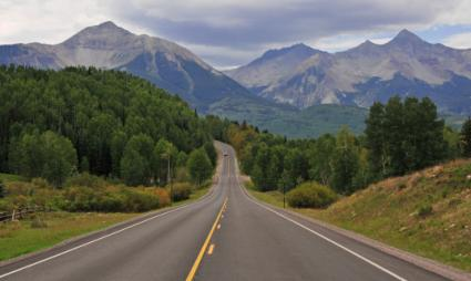 Road into the San Juan Mountains