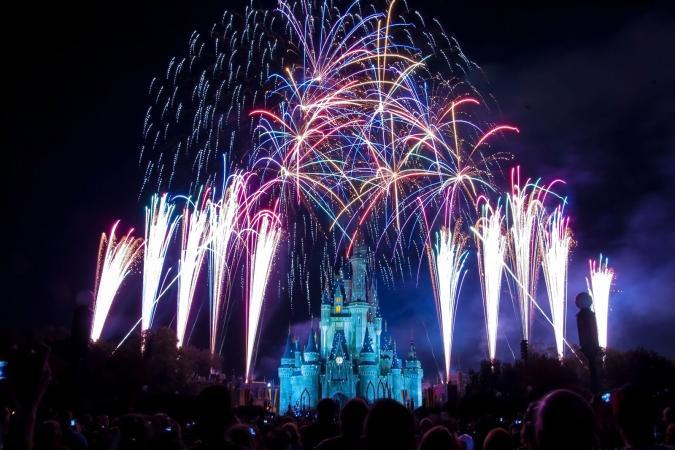 Disney World Castle Fireworks