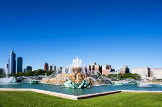Millennium Park with Buckingham Fountain
