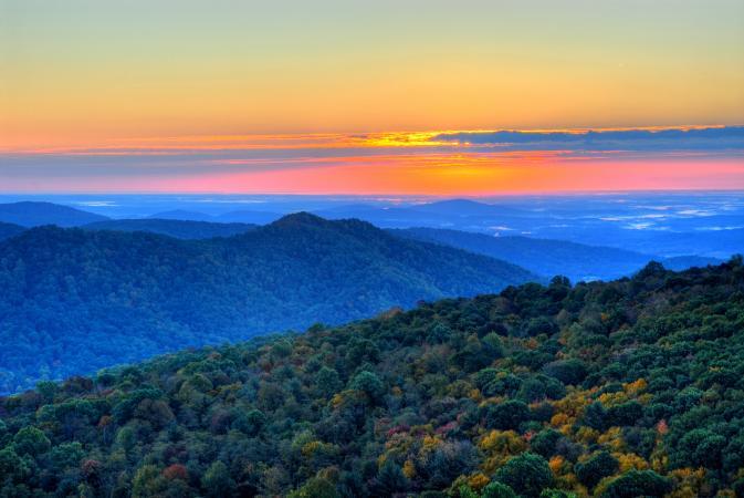 Blue Ridge Mountains from Skyline Drive