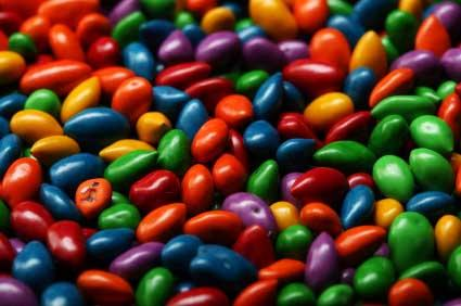 Colorful chocolate sunflower seeds